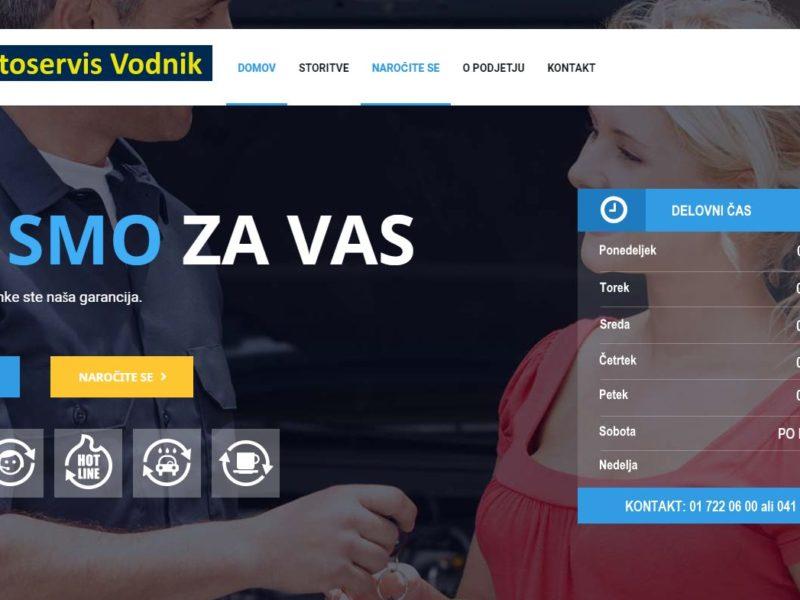 Spletna stran - Avtoservis Vodnik Domžale
